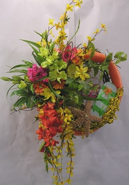 Orangy beach wreath 003