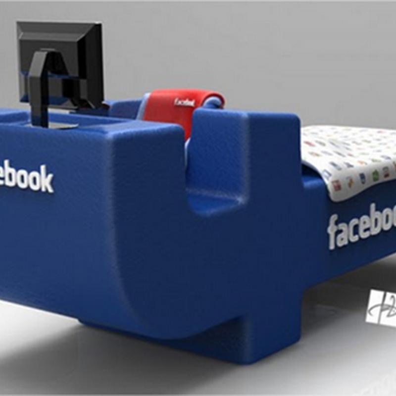 Increíble diseño de cama de Facebook