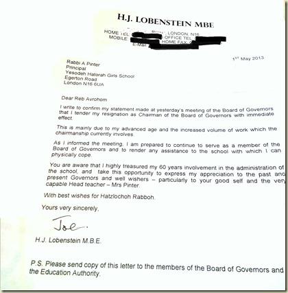 Joe resignation