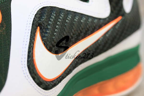 Detailed Look at LEBRON 9 8220Miami Hurricanes8221 Home PE