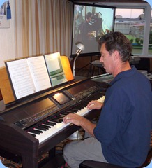 Peter Littlejohn played the Club's Clavinova which he is unfamiliar with but made it sound great with rhythms to boot!