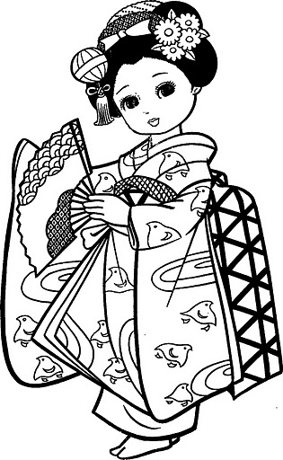 china dolls coloring pages - photo#12