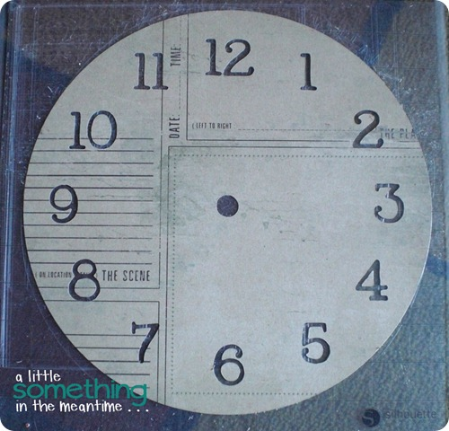 Clock Face Die Cut