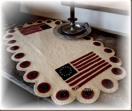 Flag scalloped edge runner
