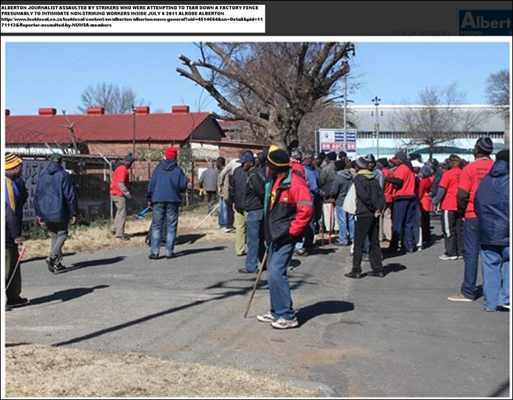 Alberton journalist assaulted by NUMSA strikers Jurie st Alrode July62011 12_15