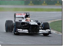 Maldonado nelle qualifiche del gran premio d'Australia 2013