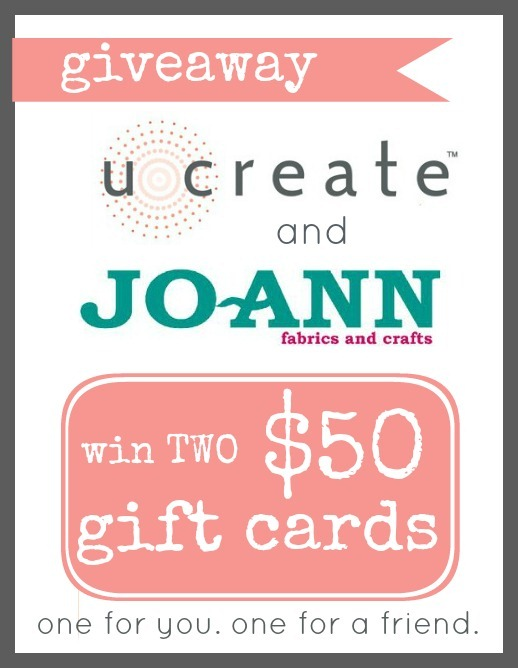 Win TWO $50 gift cards to Joann's!