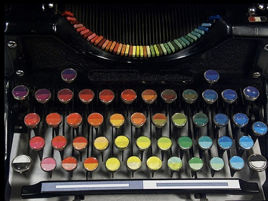 Máquina de escrever pinturas 02