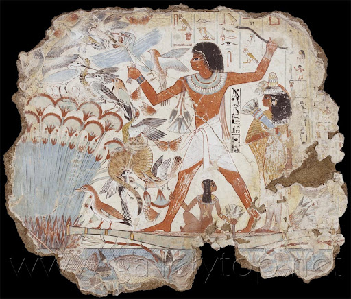 ancient egypt art  fowling