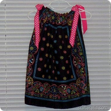 bandanna dress black