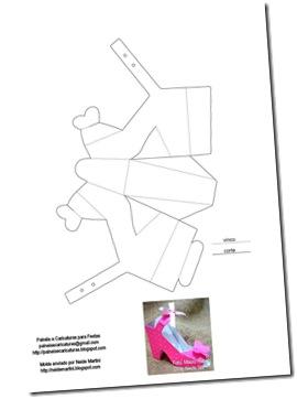 molde-sapatinho-de-papel 2