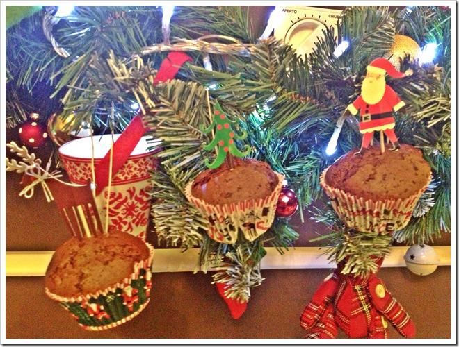 Ricette di Natale per bambini muffin da appendere