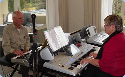 John Perkin jamming with Barbara McNab