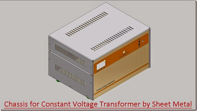 Chassis for Constant Voltage Transformer by Sheet Metal