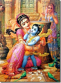 Krishna caught by Yashoda