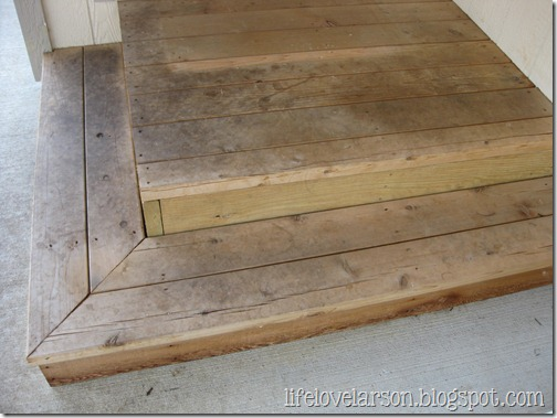 Life love larson quick stair staining project for First step to building a house