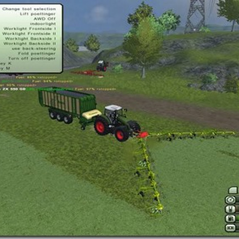 Farming simulator 2013 - Pöttinger Front 260 WQ Tedder V1.0