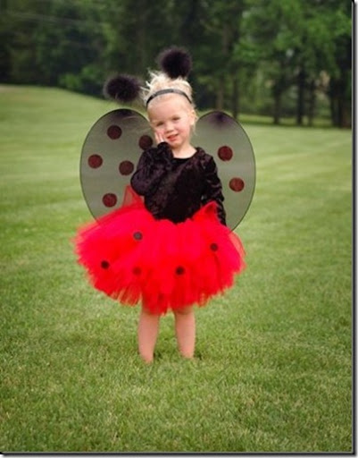 Disfraz casero de mariquita para niña hecho con un tutú disfraces ...