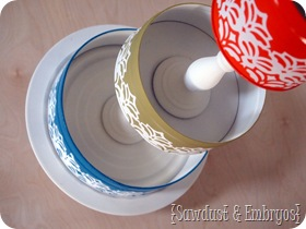 3-Tier organization using old tins and candlesticks {Sawdust & Embryos}
