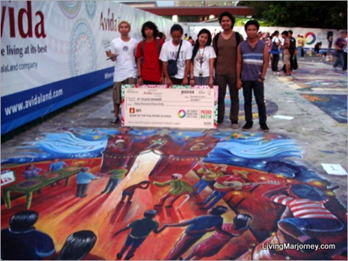 Avida Christmas 3D Street Painting Competition 2012