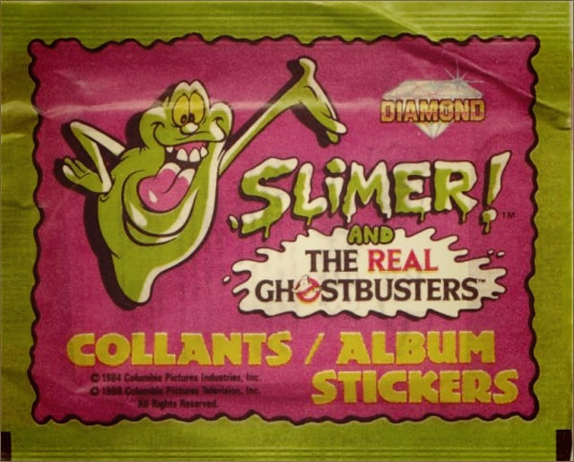 Slimer! And The Real Ghostbusters Stickers