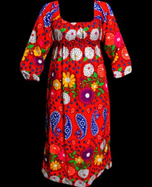 1960's flower power day dress monster vintage