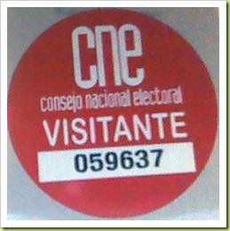 Calcomanía de acceso al CNE