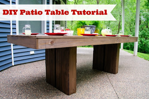Diy patio table Small Diy Patio Table Tutorial From Decor And The Dog Decor And The Dog Diy Outdoor Patio Table Tutorial Decor And The Dog