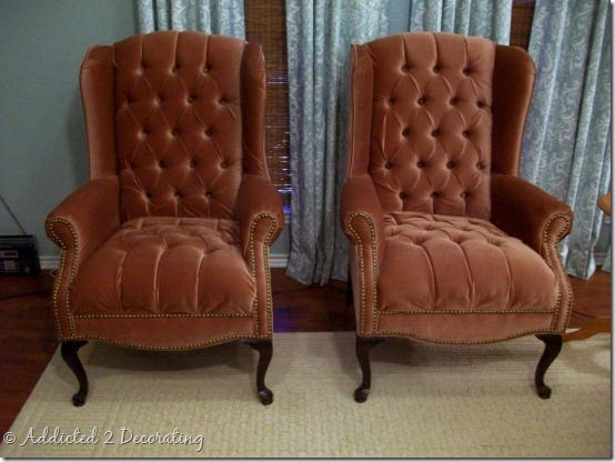 wingback chairs before