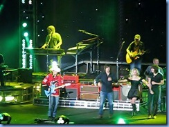 0776a Alberta Calgary Stampede 100th Anniversary - Scotiabank Saddledome - Brad Paisley Virtual Reality Tour Concert - Alcohol - Brad with The Band Perry onstage