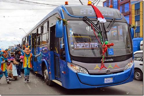 Transporte masivo en El Alto