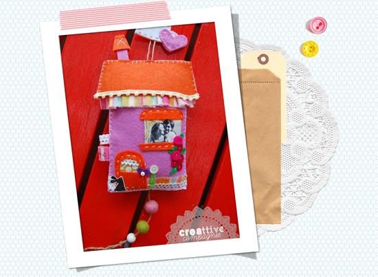 Casetta in feltro idea regalo per sposi
