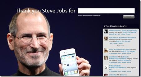 thank steve jobs