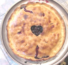 blueberry pie cooked