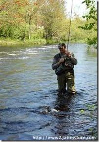 Tusket River, Nova Scotia, Canada Fihsing Zone