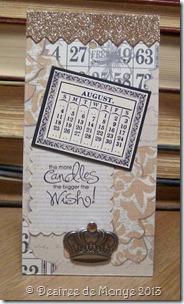 Susan's calendar August