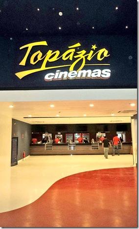 A entrada do novo Topázio Cinemas (Crédito: Divulgação)