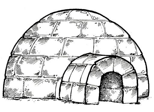 Niños y su iglu pára colorear - Imagui