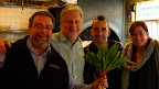 Drew Nieporent, Jonathan Waxman, Marc Forgione, Missy Robbins, and the ramps from Jonathan's kitchen.
