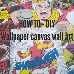 how to diy wallpaper canvas wall art