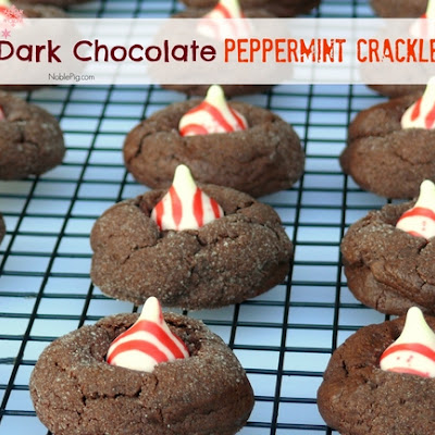 Dark Chocolate Peppermint Crinkles