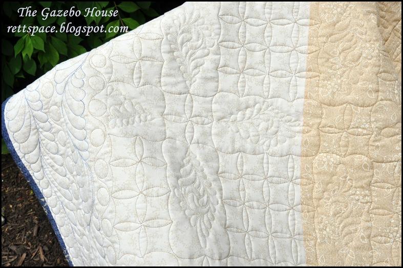 Indigo Stars quilt 012