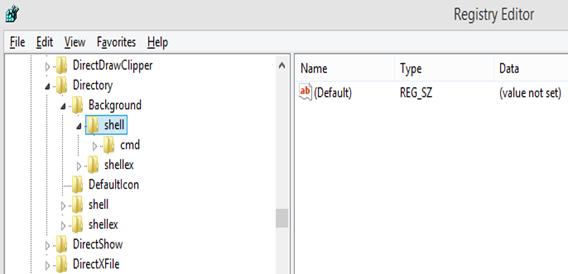 Registory editor shell