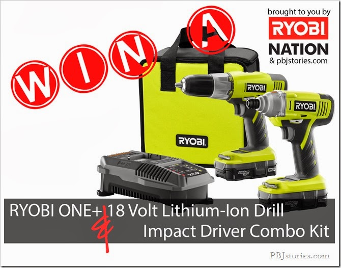 Ryobi Giveaway on PBJstories.com