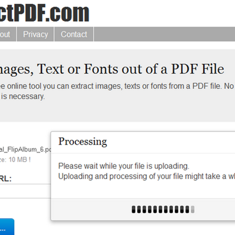 How to extract images text or fonts out of a pdf files online