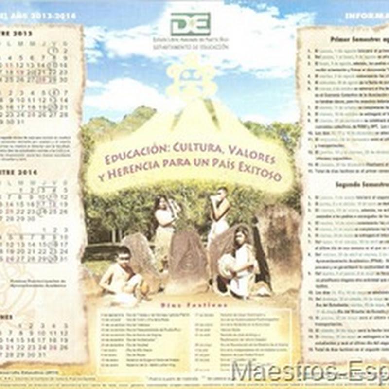 Calendario Escolar Del Departamento De Educacion De Puerto Rico 2013