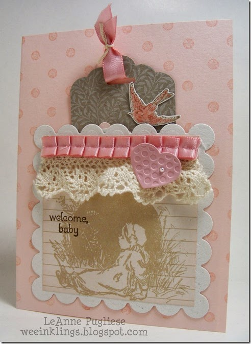 LeAnne Pugliese WeeInklings Pocket Baby Card Stampin