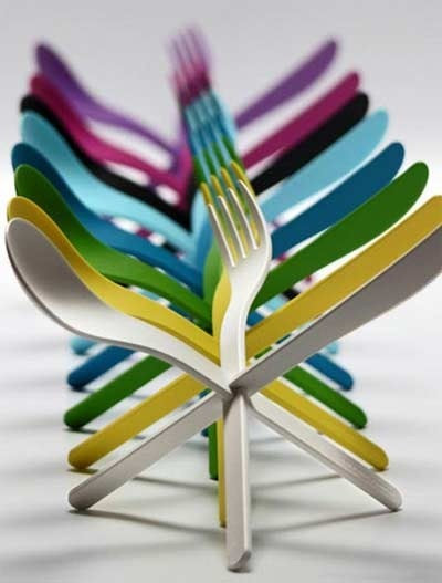 Wonenonline eten doe je met een mes vork en lepel for Couverts de table originaux