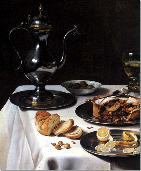 pieter-claesz-still-life-with-turkey-pie-detail