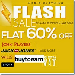 Buy Snapdeal offering John Players, Wills Lifestyle, Lee & FCUK Men's Clothing Flat 60% off
